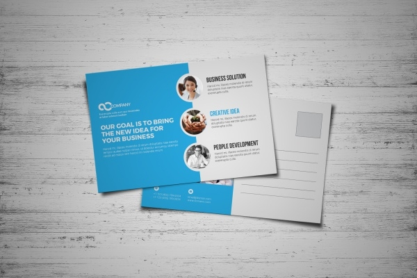 Custom Corporate Postcard Design