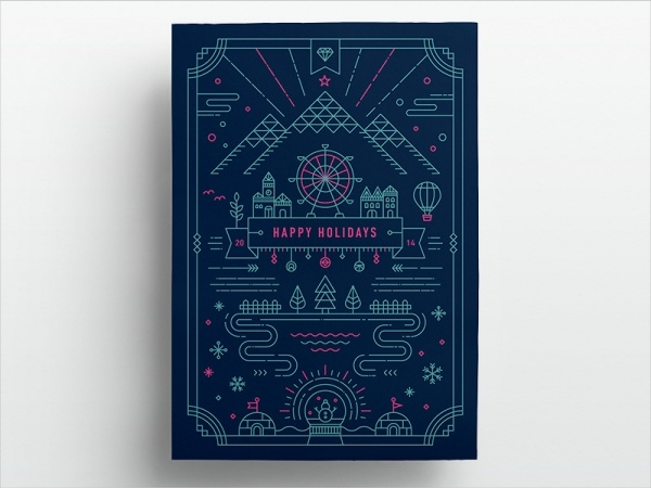 Custom Free Holiday Greeting Card Design
