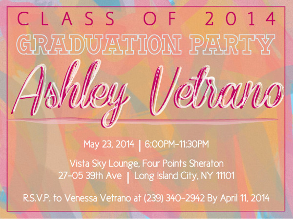 Custom Graduation Party Invite Design