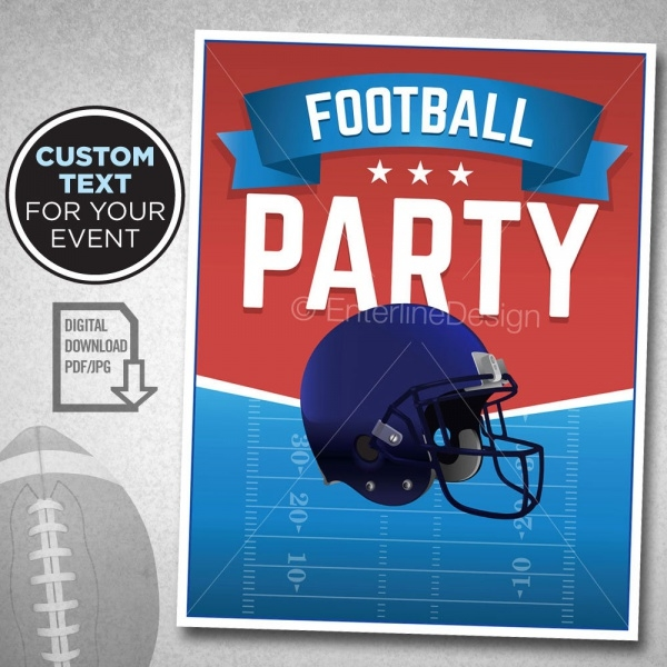 Custom Super Bowl Theme Party Invitation