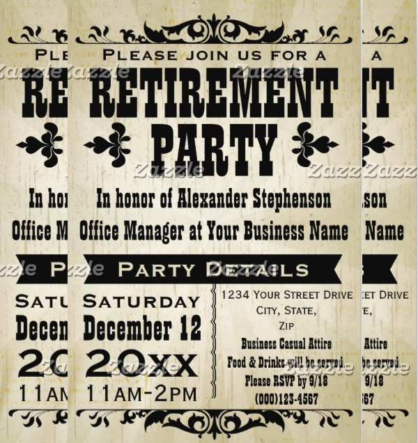 Custom Vintage Country Retirement Flyer