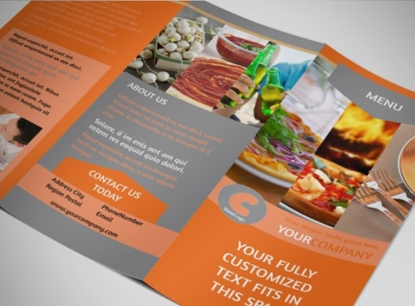 Customizable Menu Brochure Template