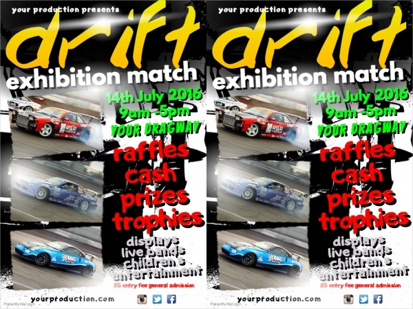 Customize Drift Car Show Flyer