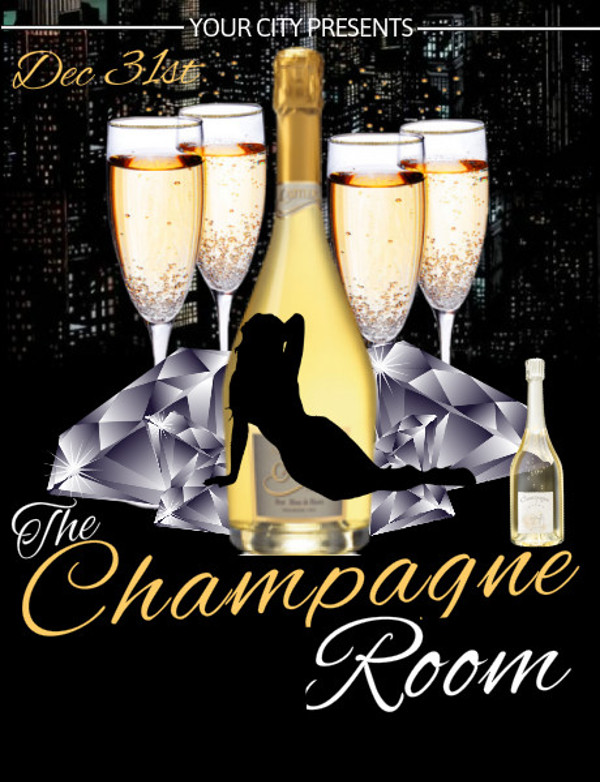 Customize The Champagne Wine Flyer