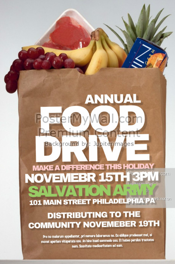 18+ Food Drive Flyer Designs - PSD, Vector EPS, JPG Download ...