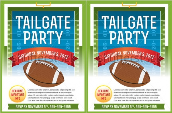 Customizing Vector Football Invitation Design