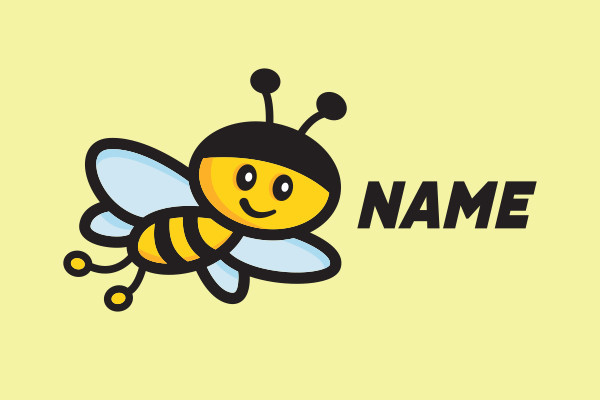 Cute Honey Bee Mascot Logo