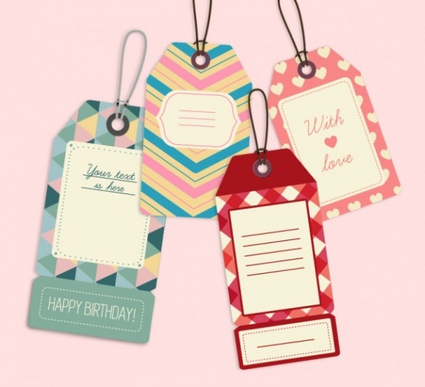 Cute Retro Label Product Tag