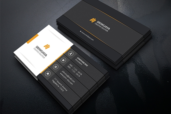 Dark Corporate Business Card Design