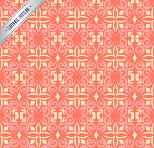 Decorative Flourish red pattern