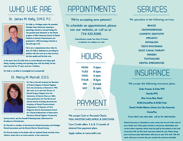Dental Brochure PSD Vector EPS JPG Download FreeCreatives - Medical office brochure templates