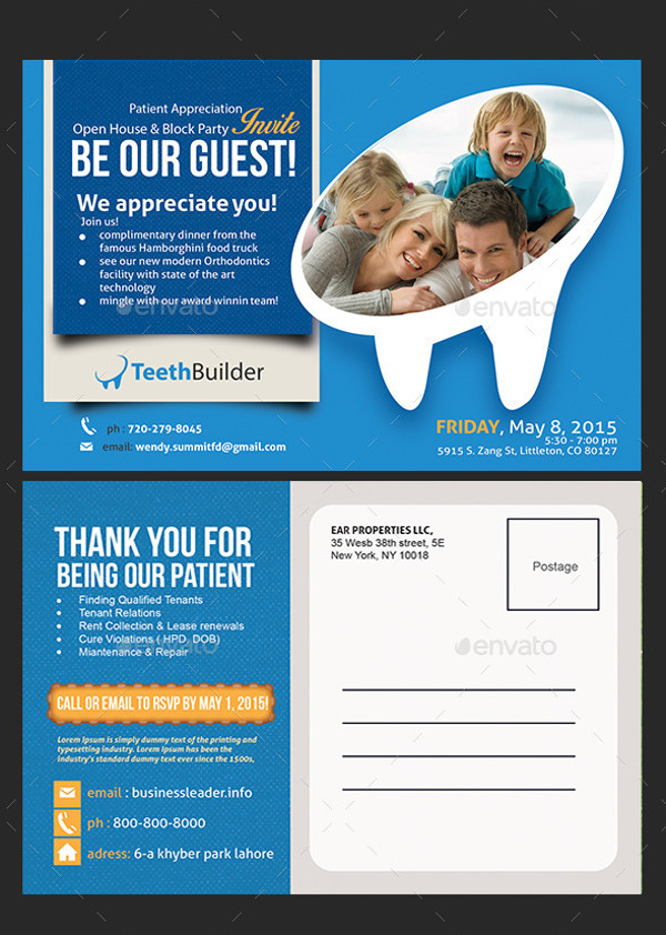 Dentist Postcard Design