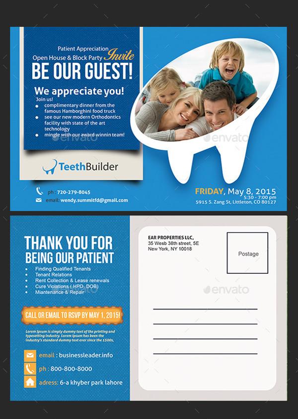 Dentist Postcard Design