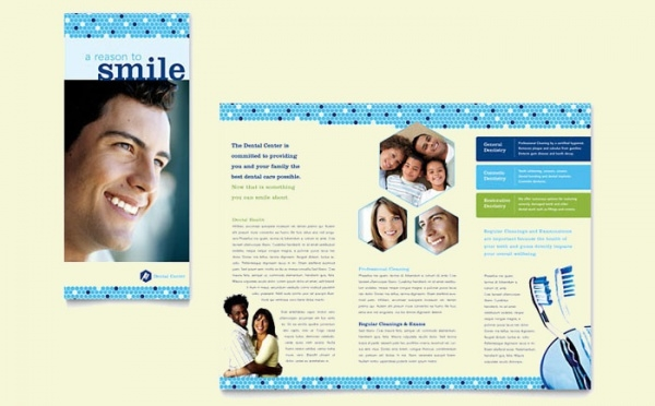 dentistry dental office brochure template