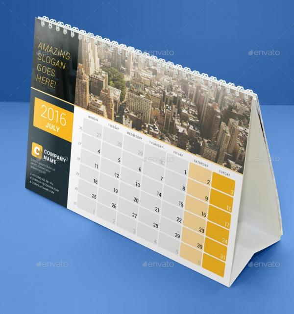 Desk Calendar PSD Template