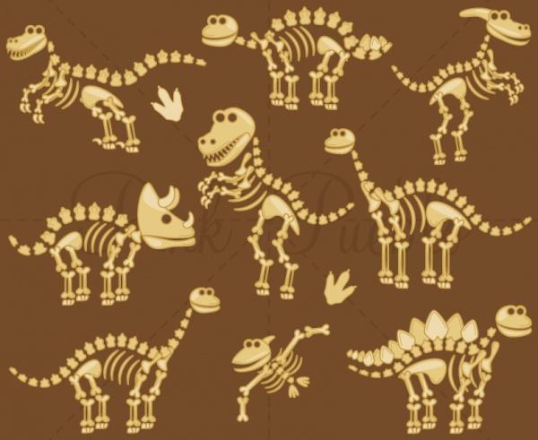 Dinosaur Bones Clipart