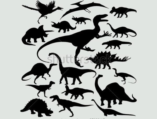 Dinosaur Silhouette Clipart