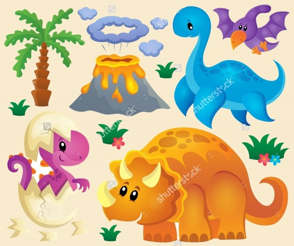 Dinosaur Theme Clipart Design