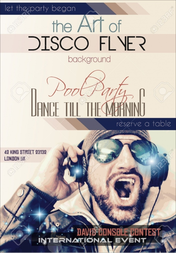 Disco Night Club Flyer Design
