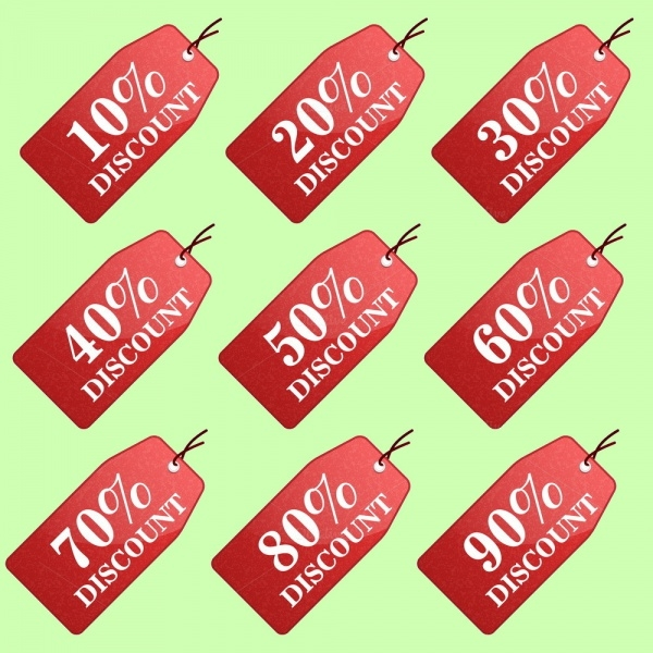 Discount Gift Tag Design