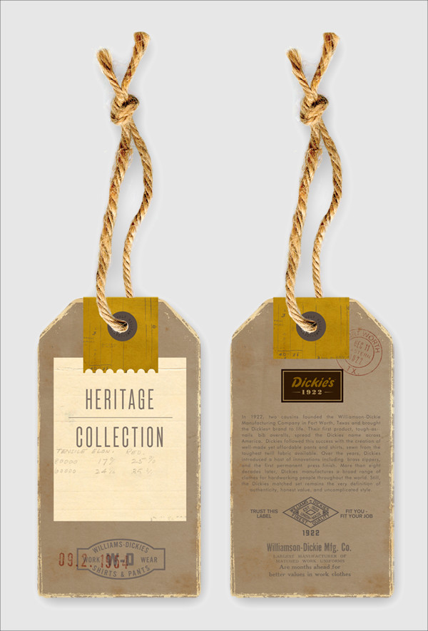 Distressed Swing Tag Design