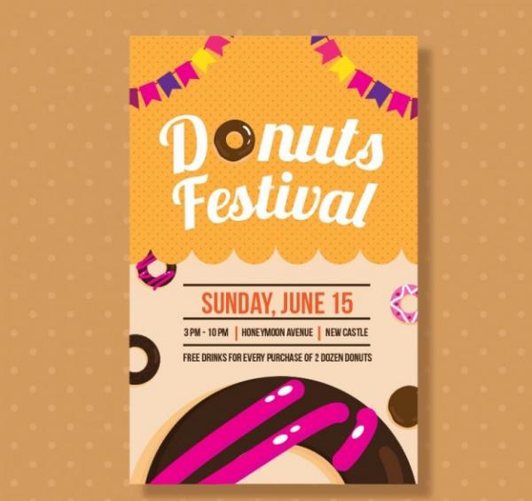 Donuts Festival Bakery Brochure Design