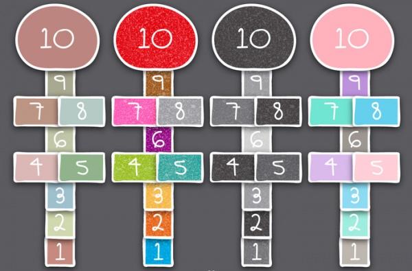 Doodle Style Hopscotch Games vector