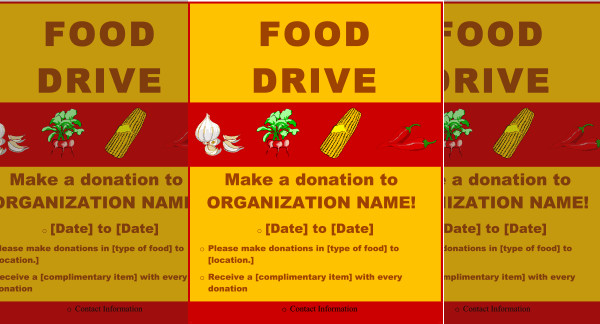 25  food drive flyer designs