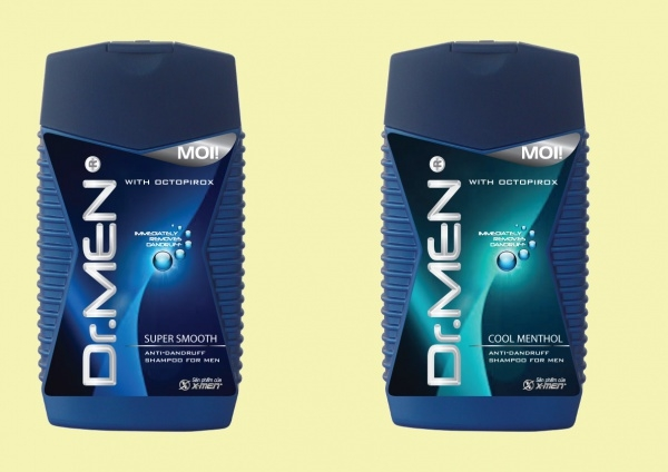 Dr.Men Shampoo Label Design