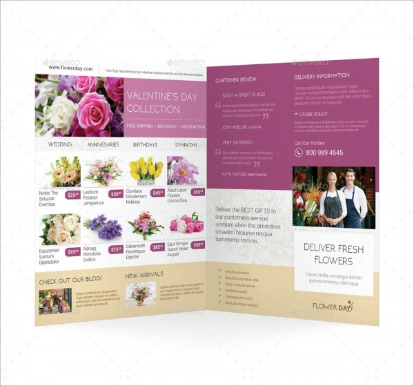 Editable Brochure for Flower Shop