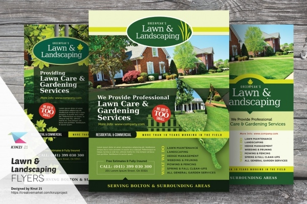 20+ Lawn Care Flyers - PSD, Vector EPS, JPG Download | FreeCreatives