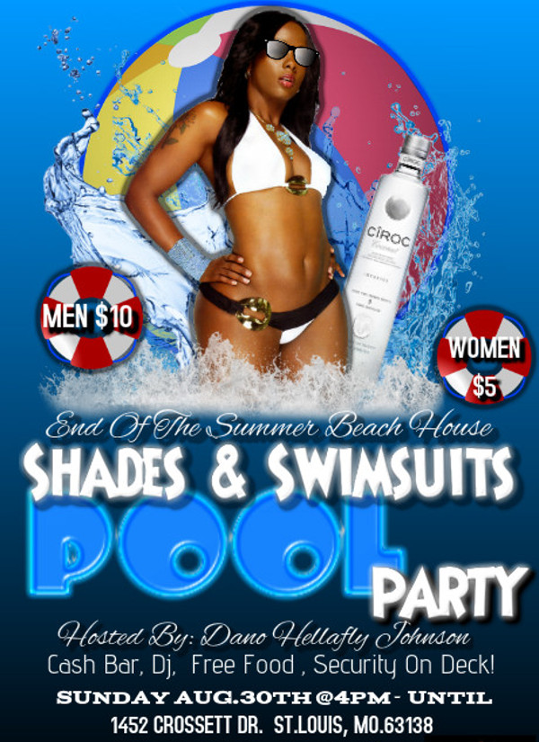 Editable Pool Party Event Flyer Design