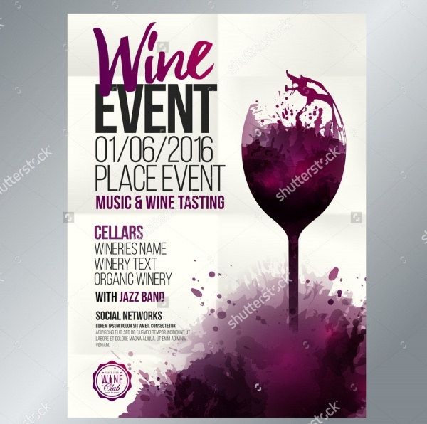 Wine Flyer Designs  Psd Vector Eps Jpg Download  Freecreatives