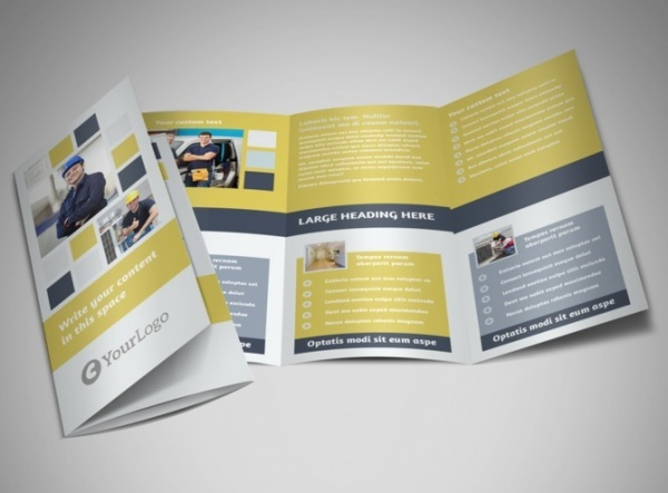 electrical service tri fold brochure template