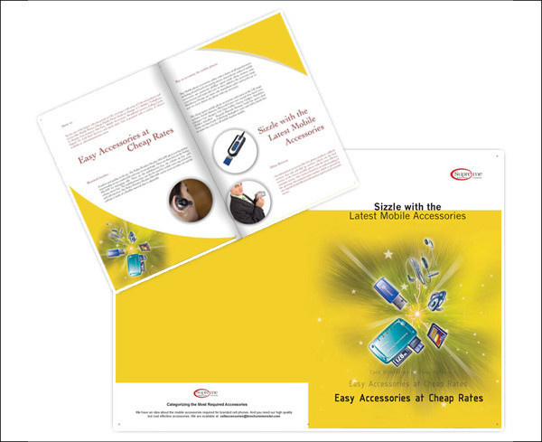 Electronic Communication Brochure Template