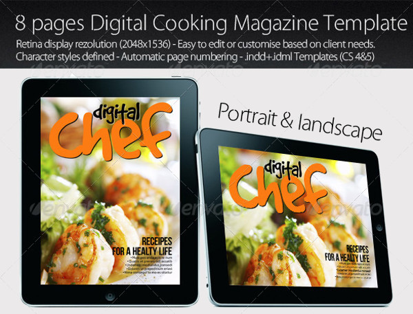 Electronics Digital Cooking Magazine