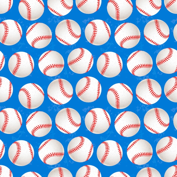 Elegant Baseball Pattern Design