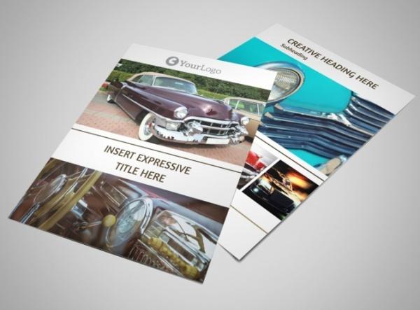 elegant car show flyer template