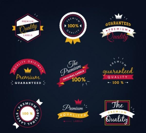 Elegant Product Label Design Collection