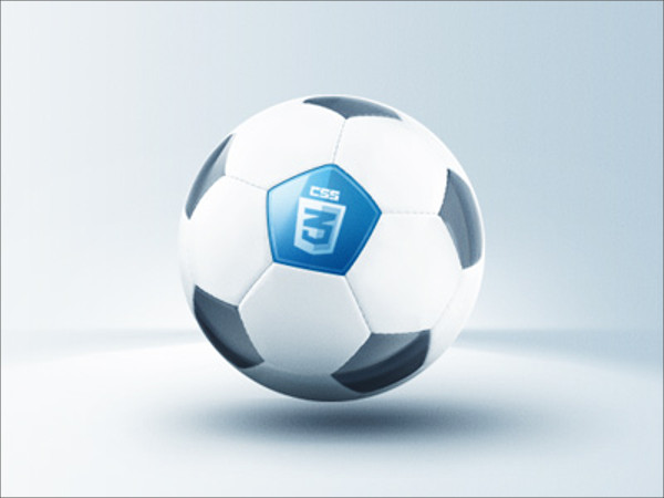 Elegant Soccer Ball Vector