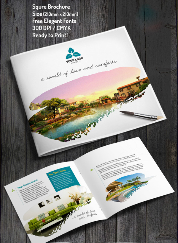Elegant Square Real Estate Brochure