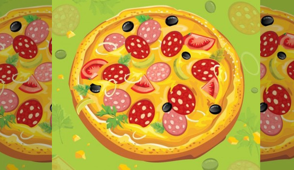 Elegant Yummy Pizza Vector