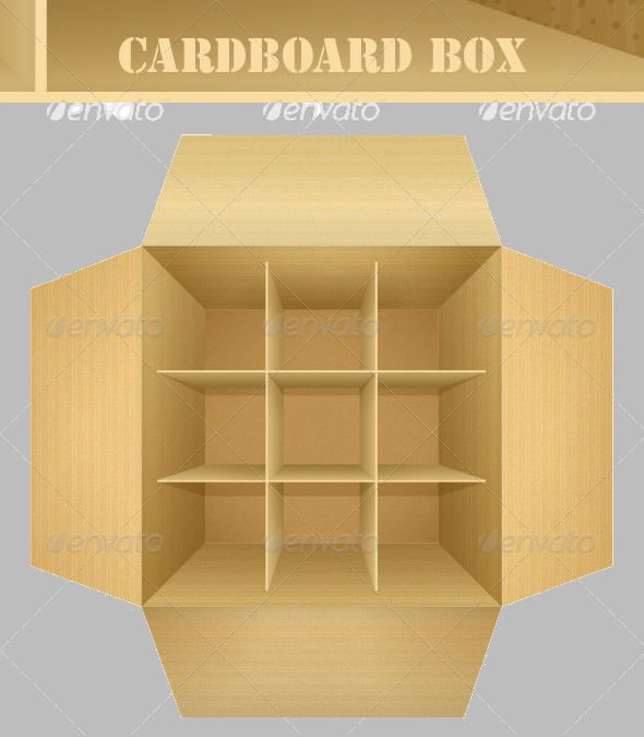 Empty Corrugated Cardboard Packaging