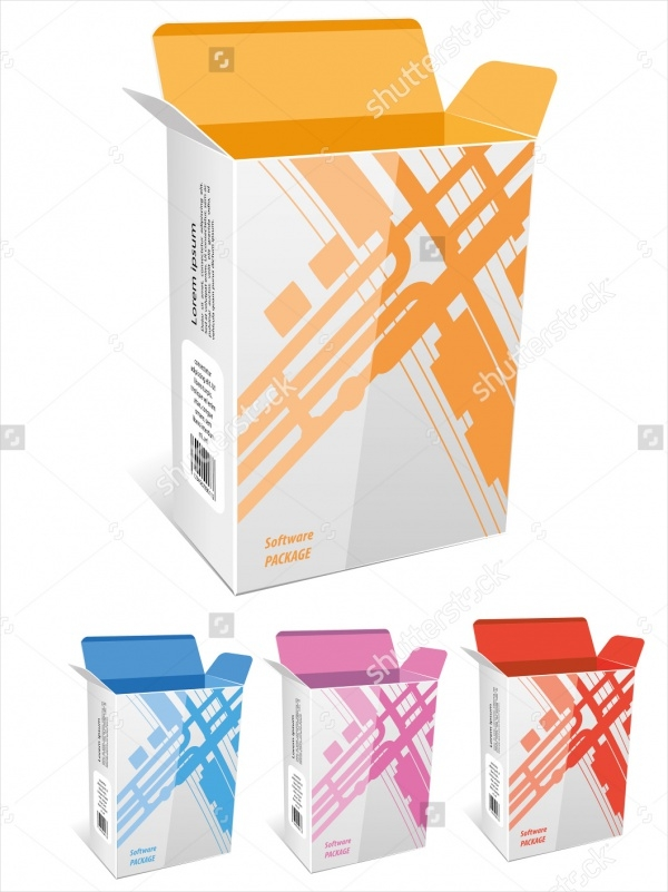 Empty Package Box Vector Design