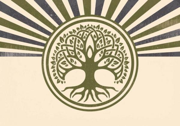 Enivronmental Vegetation Tree Illustration