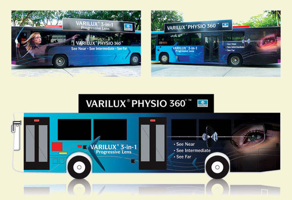 Essilor Bus Advertising Design
