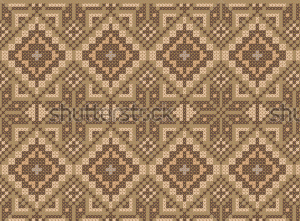 Ethnic Cross Stitch Flourish Pattern