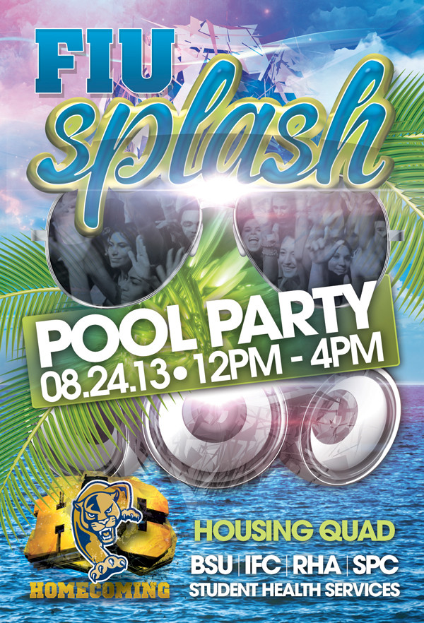 FIU Splash Pool Party Flyer Template
