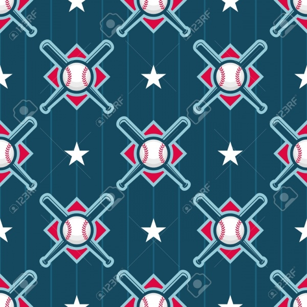 Fabulous Baseball & Bat Pattern