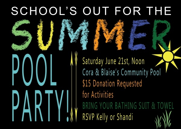 fabulous summer pool party invitation